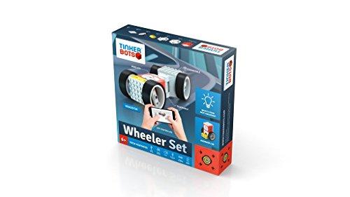 Preisvergleich Produktbild Roboter Baukasten Tinkerbots Wheeler Set - Mit Hightech Roboter Autos und Roboter bauen und per App fernsteuern - Robotik Spielzeug für Kinder ab 6