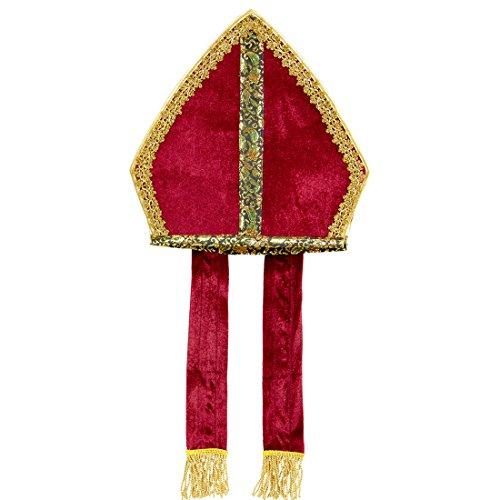 Nikolaus Mitra Nikolausmütze Kirche Nikolaus Hut Mitre Bischofshut Papstmütze Kostüm Accessoire Edle Bischofsmütze