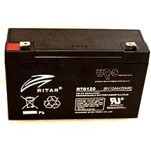 Ritar 6V 12amp–Batería para coche de juguete eléctrico (Producto con enchufe de UK)