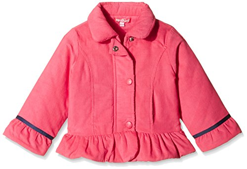 Nauti Nati Baby Girls Jacket (NAW15-304_Pink_9-12 Months)