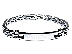 Factorywala Silver Plated Designer Bracelet for Boys/Mens
