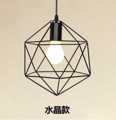 Lámparas de la dormitorio nórdico minimalista moderno forja hierro forjado lámpara personalidad creativa diamante salón,Solo cristal