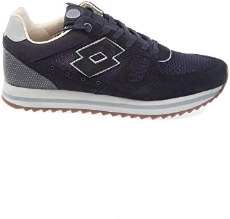 Lotto Herren S8860NVYDKGRY Blau Leder Sneakers