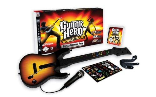 Guitar Hero: World Tour - Karaoke Bundle (inkl. Gitarre + Mikrofon) Guitar Hero Gitarre Ps3-bundle