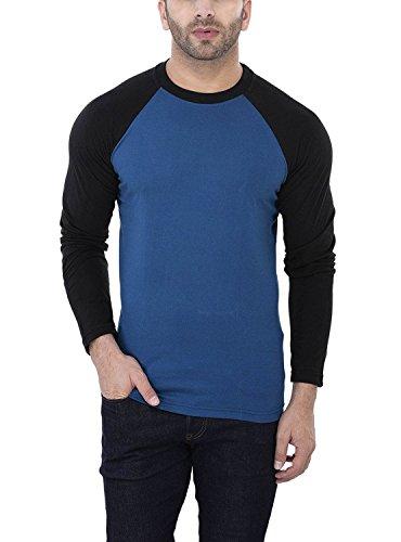 88001af175c 65% OFF on Zembo Men s Cotton Exclusive Premium Fashionable Round Neck  Full  Sleeve Slim Fit T-Shirt-BlueSize XX-Large on Amazon