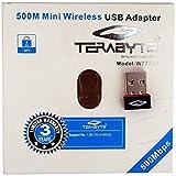 TerabyteMini Wireless WiFi Dongle 500MBPS USB Connector (Black)