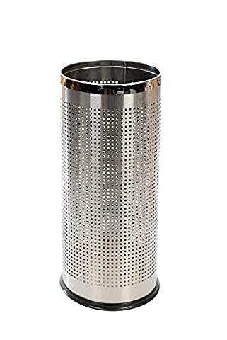 SILVER / CHROME Effect Metal Umbrella Walking Stick Stand Holder with Perforated Sides to Dry Umbrellas Faster and Stainless Steel Rims ✔Cheapest In Town✔Cannot Be Beaten On Quality & Price✔