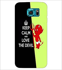 PrintDhaba Quote D-5088 Back Case Cover for SAMSUNG GALAXY S6 EDGE (Multi-Coloured)