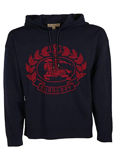 BURBERRY Herren 8008369 Blau Wolle Sweatshirt