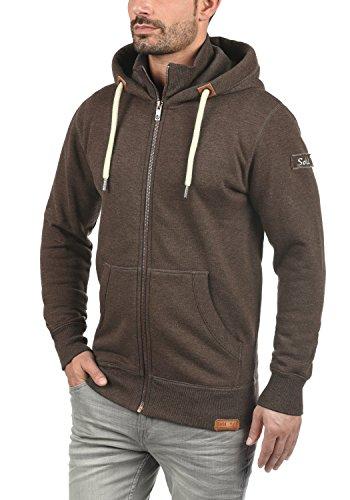 !Solid TripZip Herren Sweatjacke Kapuzenjacke Hoodie mit Kapuze Reißverschluss und Fleece-Innenseite, Größe:3XL, Farbe:Coffee Bean Melange (8973) - 2