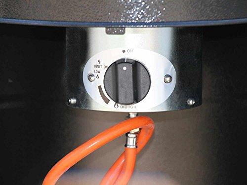 Traedgard Heizstrahler Kompakt Midi Schwarz, Höhe ca. 142 cm, Schwarz pulverbeschichtet mit Rollenset und Schutzhülle, ca. 12 KW Heizleistung - 6