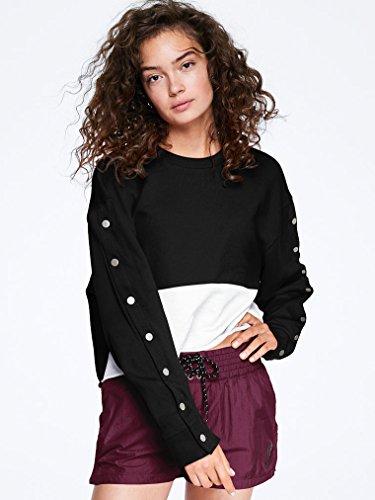 Victorias Secret - stylisches Sweatshirt im VS PINK Design - Schwarz Weiß