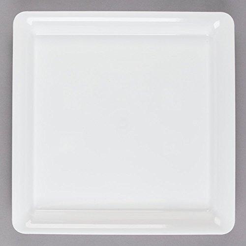 3Stück Quadratisch Hard Kunststoff Serviertabletts/Servierplatten/Kunststoff Lebensmittel Tablett-Weiß-35x 35cm (35,6cm X 14)