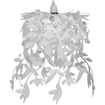 Modern White Hummingbird Dropping Chandelier Ceiling Pendant Light Shade