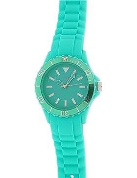 Reflex drehbare Lünette Mint Green Silicone Strap Damenuhr SR042