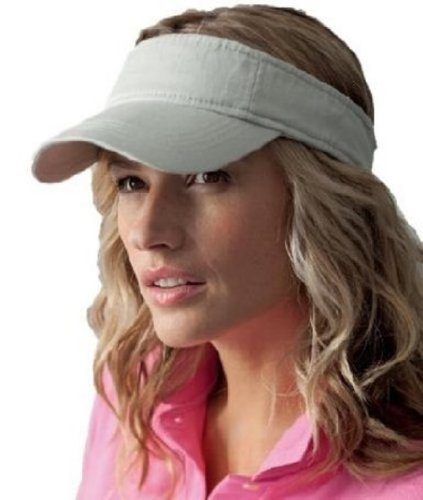 Anvil Low Profile Twill Sun Visor COLOUR Wheat SIZE ONE SIZE by Anvil