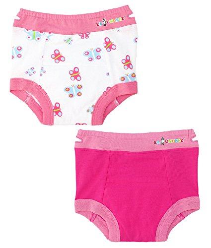 Ez Undeez Baby Mädchen, Kleinkind Trainingshose mit gepolsterten Liner (2T, Butterfly-Solid - 2t Unterwäsche Kleinkind Mädchen