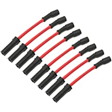 Demino 8pcs / Set Spark Plug Wires Rendimiento de Repuesto para Chevy GMC LS1 Vortec 4.8