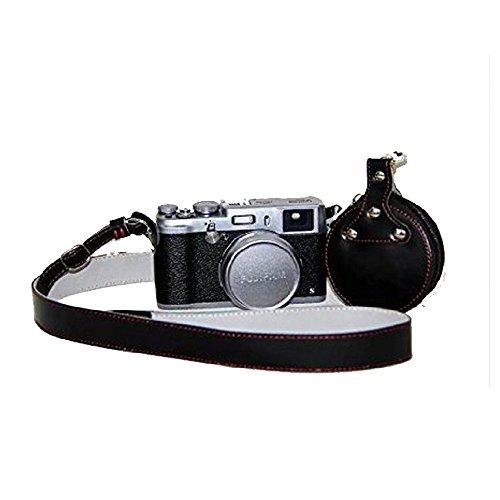 Leder Gurt Strap Pad (Boweike Universal PU-Leder Kamera Gurt Strap Mit Objektivdeckel Tasche Für Canon Canon EOS 7D 50D 60Da 550D 650D 700D 1100D 5D Mark III Fuji Fujifilm X100s Nikon Sony Pentax Samsung Panasonic Leica)