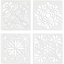 SUPVOX 4pcs Plantillas de aerosol Retro Totem Stencils Set Corte Pintura Stencil Piso de la pared