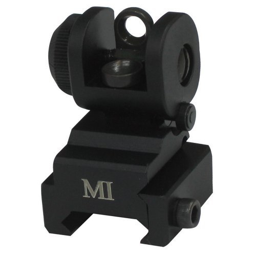 Midwest Industries Rear Flip-Up AR Series Sights by Midwest (Ar Flipup Sights)