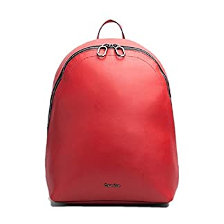 41YPJXlFs3L. SS324  - Calvin Klein - Bolso mochila de cuero sintético para mujer Rojo rojo Medium