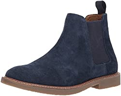 Steve Madden Mens Highline Chelsea Boot, Navy Suede, 10. 5 US/US Size Conversion M US