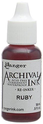 Ranger Archival Custodia serie re-Inkers 5 g, colore: rosso rubino, in acrilico, multicolore