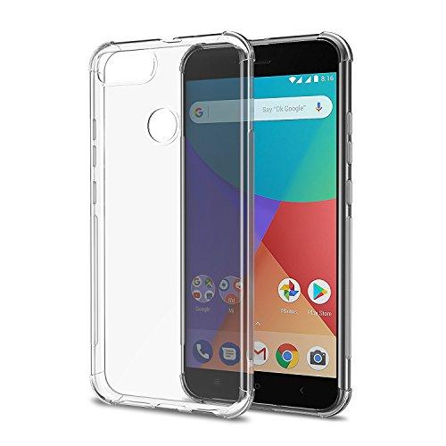 [2-Pack] Funda Xiaomi Mi A1, Carcasa Xiaomi Mi A1 SPARIN TPU Transparente [Flexibilidad] Carcasa, Funda de Silicona, [Contra Arañazos] [Anti-Golpe] [Ajuste Perfecto]