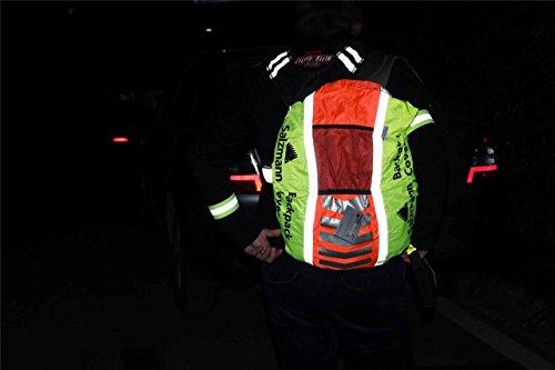 Hohe Sichtbarkeit Wasserdicht Hohe Sichtbarkeit Tofern 3m Scotchlite Reflektierende Sicherheit Rucksack Rucksack Tasche Tasche Wasserdicht für Wandern Radfahren für Rucksäcke bis 40l Orange