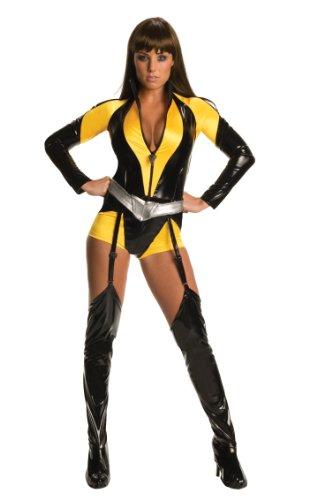 Watchmen Silk Spectre Kostüm Damen 3-tlg. Overall, Gürtel, Stulpen schwarz gelb - S