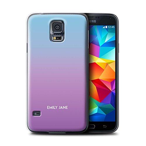 Stuff4 Personalizzato Colori Personalizzati Ombre Custodia/Cover per Samsung Galaxy S5 Neo/G903 / Porpora/Viola Design/Iniziale/Nome/Testo Caso/Cassa