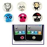 Novago Pack de 6 Autocollants Stickers Bouton Home pour décorer iPhone 4/4S, iPhone...