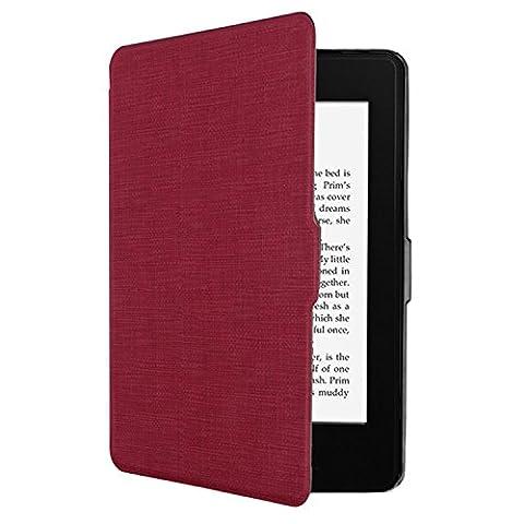Tsing Kindle Paperwhite Hülle, Smartshell Case Kompatibel für Alle Kindle Paperwhite Die dünnste und Leichteste Schutzhülle (für Alle Vorgängermodelle von 2012, 2013, 2014 und Den Neuen Kindle Paperwhite 2015) (Rot)