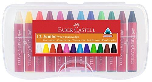 Faber-Castell 120011 - Wachsmalkreiden Jumbo, 12-er Box