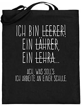 Hochwertiger Jutebeutel (mit langen Henkeln) - Perfekt für alle Lehrer!
