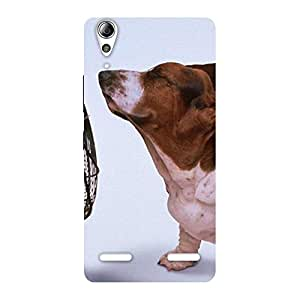 Cute Dog Fan Back Case Cover for Lenovo A6000