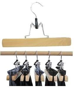 """""""Hagspiel"""" Kleiderbügel aus Holz, Hosenbügel, 8 St. Hosenspanner, mit Filzeinlage, 25 cm lang, 28 mm hoch, Originalprodukt nur bei Hagspielshop"""