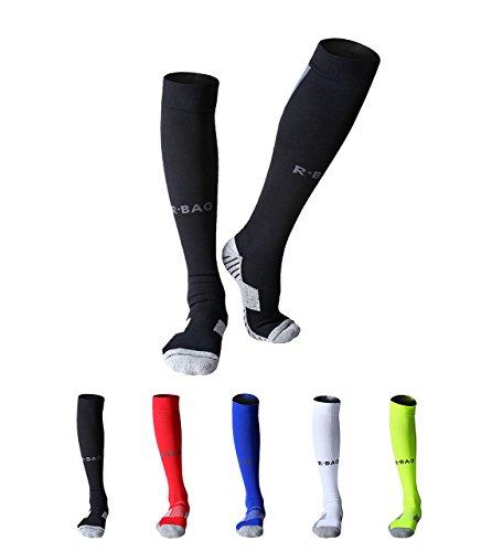 MAIBU 2-Pack Herren Sportsocken weicher Baumwolle gepolstert Kompression Fußball Basketball Running Socken ÜbungCompression Football Basketball Running Exercise Socks