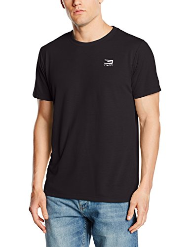 Jack & Jones Maglietta da uomo cbasic Beach a maniche corte, scollo rotondo, Uomo, T-Shirt Cbasic Beach Tee Short Sleeve Crew Neck, nero, L