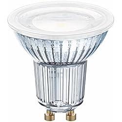 OSRAM LED STAR PAR16 / Spot LED, Culot GU10, 4,3W Equivalent 50W, 220-240V, Angle : 120°, Blanc Chaud 2700K, Lot de 10 pièces