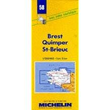 Carte routière : Brest - Quimper - St-Brieuc, 58, 1/200000