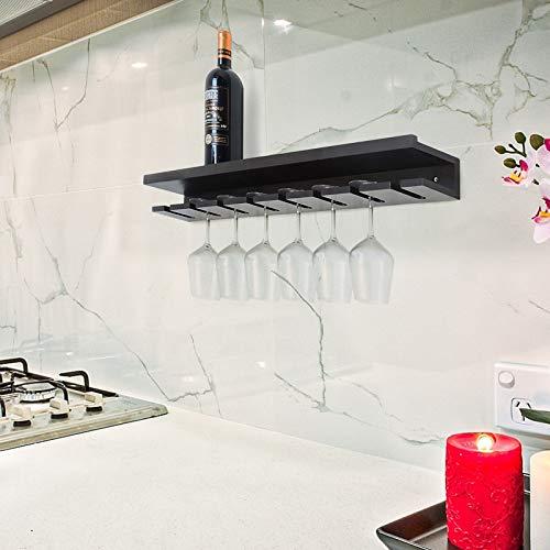 coismo Wein Rock Wand montiert Zum Aufhängen Glas Halter Holz Modern für Zuhause, Bar, Espresso (Glas-halter Und Holz-wein)