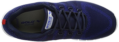 Gola Tempe, Scarpe Sportive Indoor Uomo Blu (Navy/red Blue Ex)