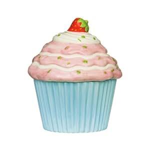 Premier Housewares Cupcake-Vorratsdose, Ø 16 cm x 19 cm Höhe, blau