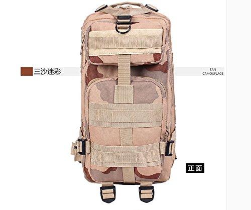 I pacchi postali doppia spalla zaino 3p attentato contro pack outdoor alpinismo camouflage Borsa Commando speciale multi-funzione pack di carica, tre sabbia camouflage Tre sabbia camouflage