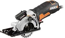 WORX WX426 WORXSaw Kreissäge 400W zum Sägen von Holz, PVC, Blech, Metall, Keramik, Stein & Beton - Kompakte Tauchsäge mit LaserGuide für präzise Schnitte - 85mm Sägeblatt