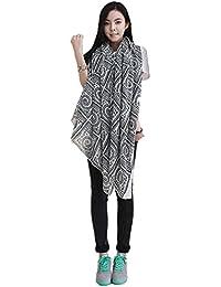 Demarkt Rétro Foulard/Écharpe pour Femme A Carreaux en Filé de Coton Taille: 175CM(L)*115CM(W)