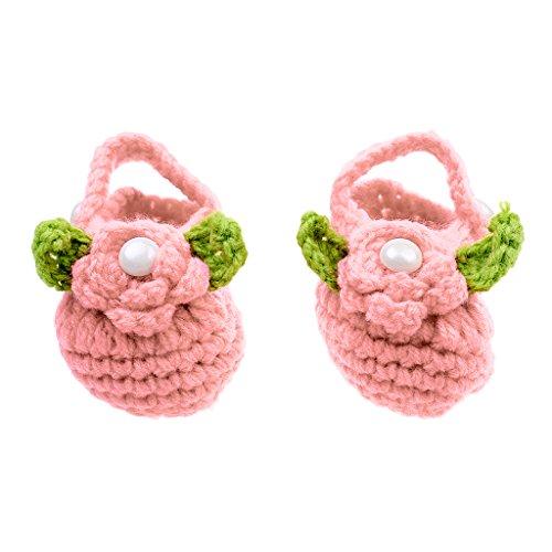 Baby Schuhe Strickschuhe das kleine Geschenk Kleinkind Prewalker - Lila Orangen