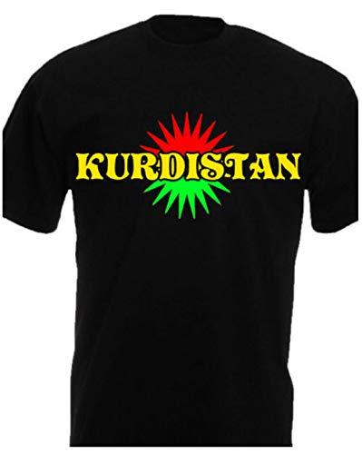 Kurdistan T-Shirt Kosovo Albanien Albania Shqipëria Iraqi Arbil Kurden Kurdish x (L, Schwarz)